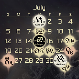 Astrology Forecast and Auspicious Dates for July 2015