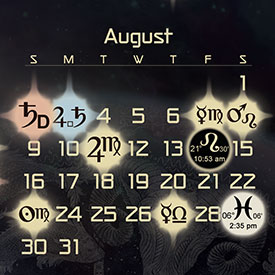 Astrology Forecast & Auspicious Dates for August 2015