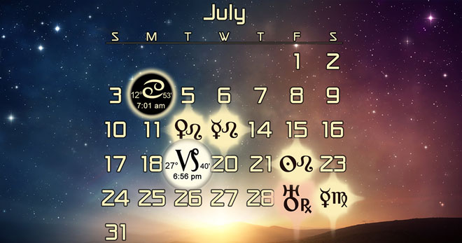 Astrology Forecast and Favorable Dates for July 2016