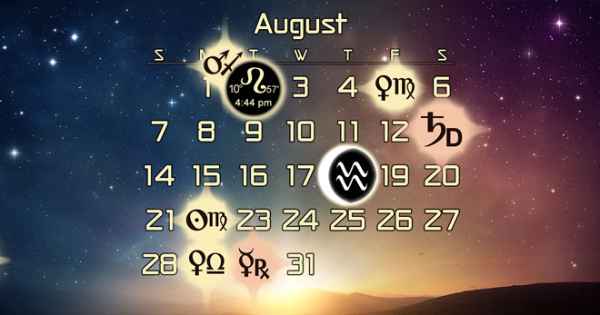 Astrology Forecast and Favorable Dates for August 2016