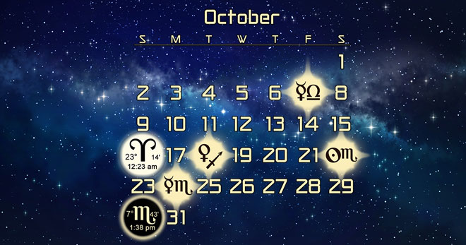Astrology Forecast Discussion for October 2016