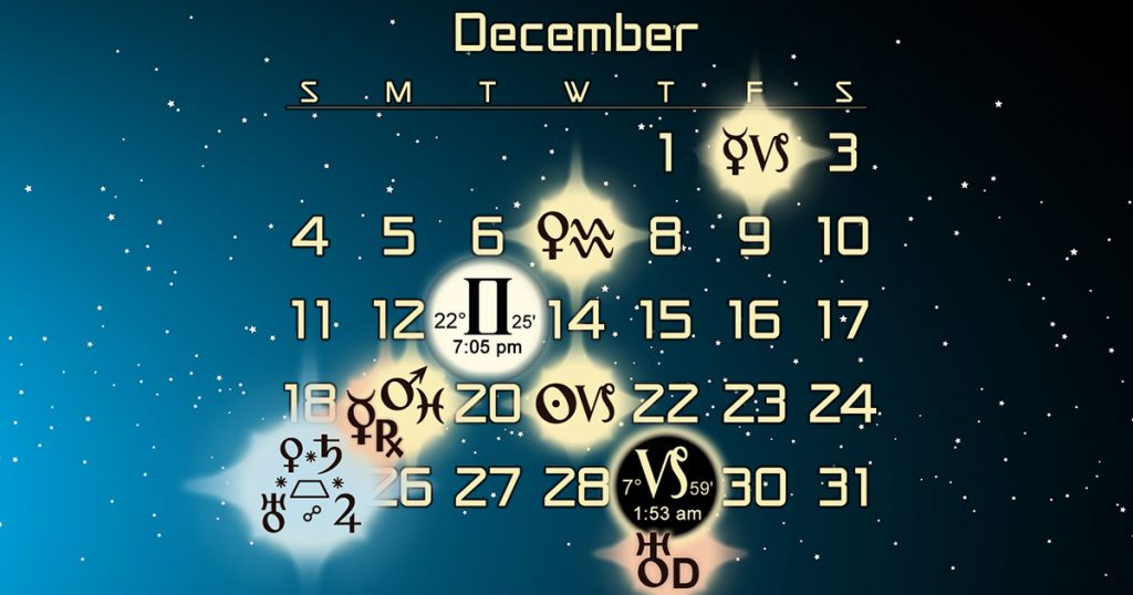 late december early december astrology