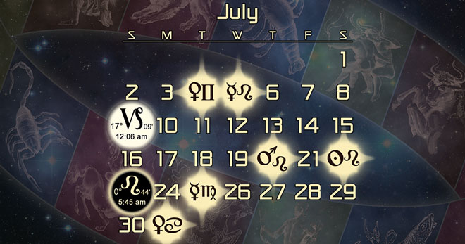 Astrology Forecast and Electional Chart for July of 2017
