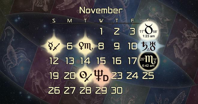 Astrology Forecast + Major Alignments for November 2017