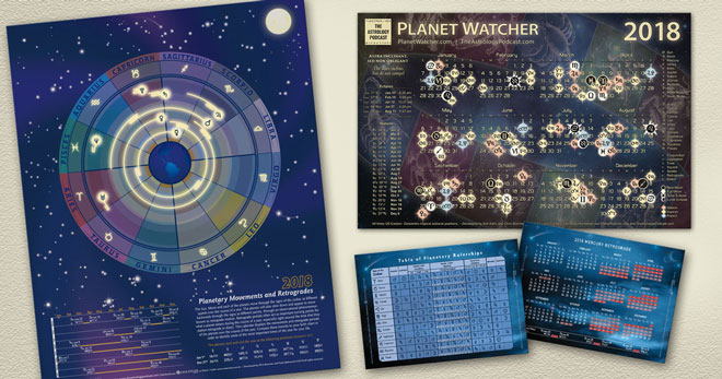 2018 Astrology Calendar Poster Package
