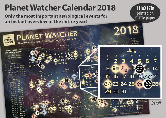 PlanetWatcher 2018 Astrology Calendar