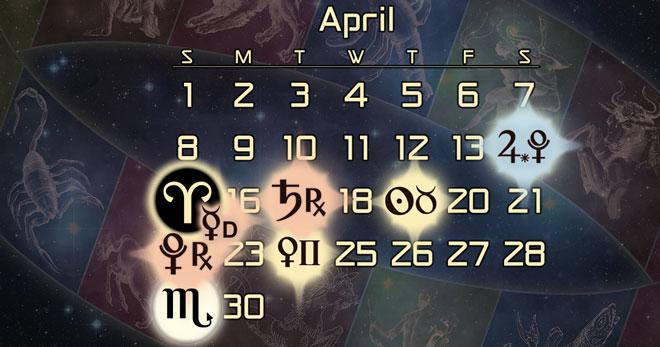 Astrology Forecast for April of 2018