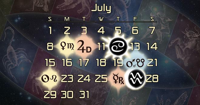 Astrology Forecast - July 2016: Lunar Eclipse Conjunct Mars