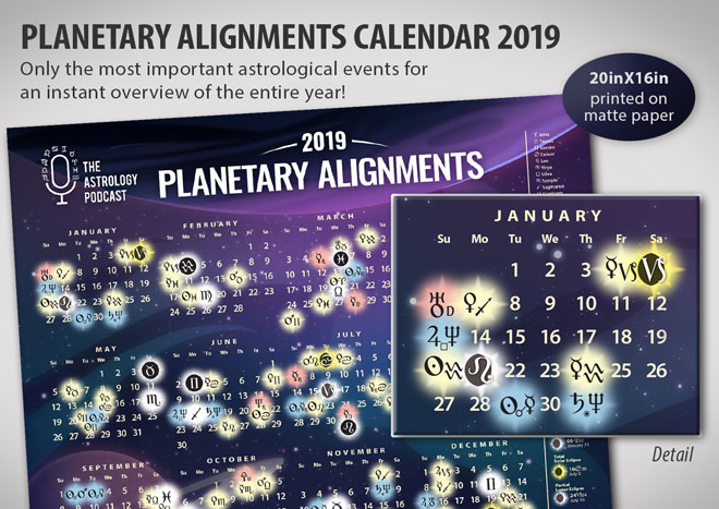 Planetary Alignments 2019 Astrology Calendar