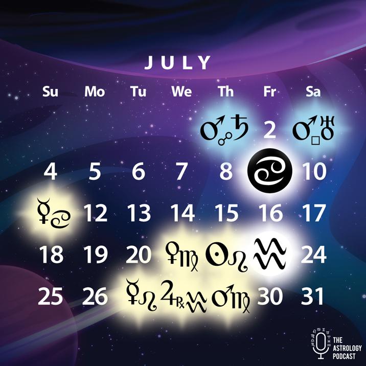 July 2021 astrology calendar